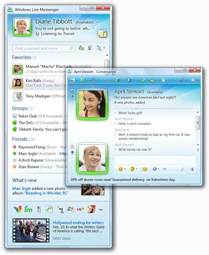 Windows Live Messenger Chat Der Windows Live Messenger Ist