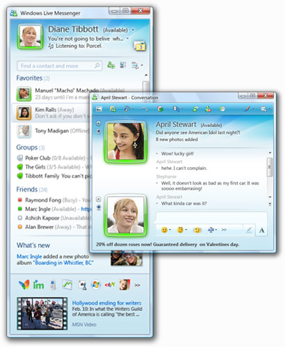 Windows Live Messenger 2009 Windows Live Messenger 2009